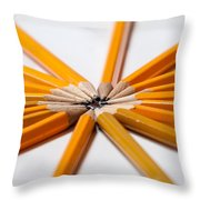Lead Pencils Isolated On White Throw Pillow
