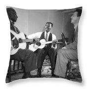 Leadbelly, Josh White, Nicholas Ray Throw Pillow