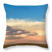 Leading Edge Storm Front And Moon Panorama Throw Pillow