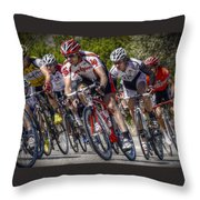 Leading The Race Throw Pillow