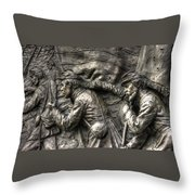 Leading The Way - State Of Delaware Monument Detail-j Gettysburg Throw Pillow