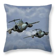 'leads The Field' Throw Pillow