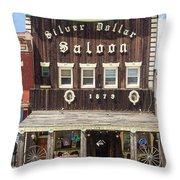 Leadville Saloon Throw Pillow