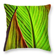 Leaf Abstract 4 Throw Pillow