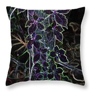 Leaf Abstract IIi Throw Pillow