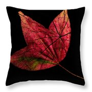 Leaf And Tree Throw Pillow