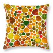 Leaf Collage 2 Throw Pillow