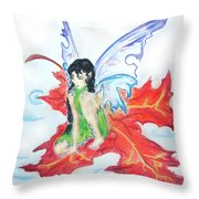 Leaf Fairy Throw Pillow