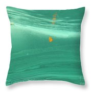 Leaf Floating Underwater Throw Pillow