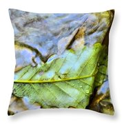 Leaf Flowing Like Water Throw Pillow