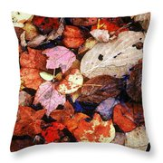 Leaf Patterns 2 Throw Pillow