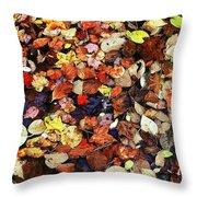 Leaf Patterns 3 Throw Pillow