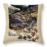 Leaf Puzzle-2 Throw Pillow