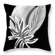Leaf Ray Throw Pillow