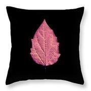 Leaf Series Fire Leaf Throw Pillow