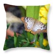 Leaf Sitter Throw Pillow