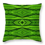 Leaf Structure Abstract Throw Pillow