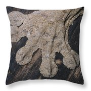 Leaf-tailed Gecko Foot Throw Pillow
