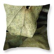 Leafpile 2 Throw Pillow