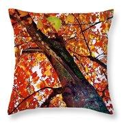 Leafward Throw Pillow