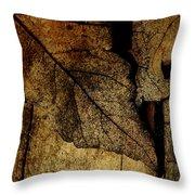 Leafwood Throw Pillow