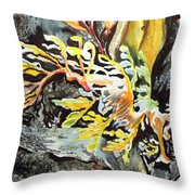 Leafy Dragon Throw Pillow