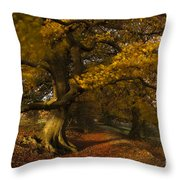 Leafy Lane Throw Pillow