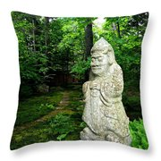 Leafy Path And Statuary Abby Aldrich Garden Throw Pillow