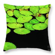 Leafy Swamp Throw Pillow