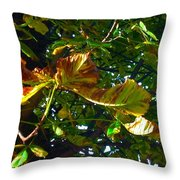 Leafy Tree Image Throw Pillow