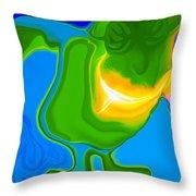 Lean Green Machine Throw Pillow