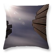 Lean Into The Light Throw Pillow
