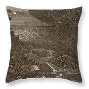 Leander Swims Over The Hellespont Throw Pillow by Bernard Picart