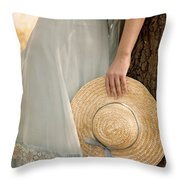 Leaning Beauty Throw Pillow