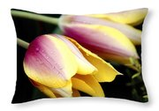 Leaning From The Dew Throw Pillow