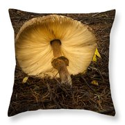 Leaning Fungi Throw Pillow