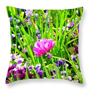 Leaning Into The Sun Throw Pillow