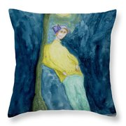 Leaning On The Lamp Post  Throw Pillow