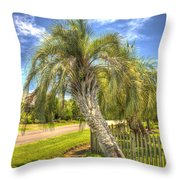 Leaning Palm Throw Pillow