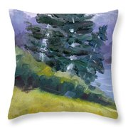 Leaning Pines Throw Pillow
