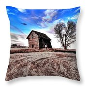 Leaning Shack Throw Pillow
