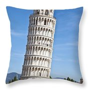 Leaning Tower Of Pisa Throw Pillow