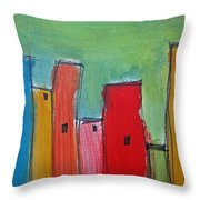 Leaning Towers Throw Pillow