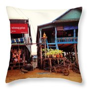 Leaning Village Throw Pillow