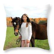 Leanna Abbey 10 Throw Pillow