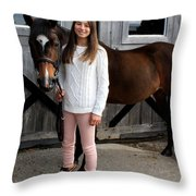 Leanna Abbey 7 Throw Pillow