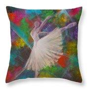Leap Into Color Throw Pillow
