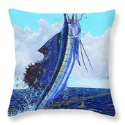 Leap Of Freedom Off0048 Throw Pillow