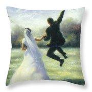 Leap Of Love Throw Pillow