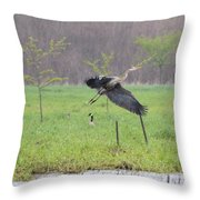 Leaping Flight Throw Pillow